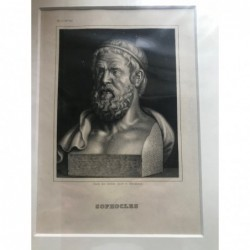 Sophocles - Stahlstich, 1850