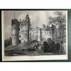 Doune Castle - Stahlstich,...