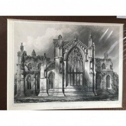 Melrose Abbey, East View -...