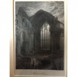 Melrose Abbey, Teilansicht...