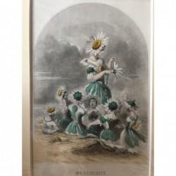 Margerite - Stahlstich, 1850