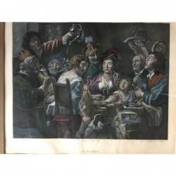 Le Roi boit - Kupferstich,...