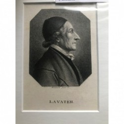 Lavater - Stahlstich, 1850