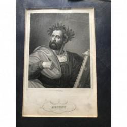 Ariost - Stahlstich, 1850