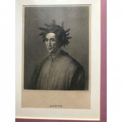 Dante - Stahlstich, 1850