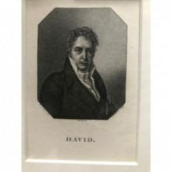David - Kupferstich, 1820