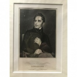 Lamartine - Stahlstich, 1850