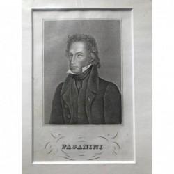 Paganini - Stahlstich, 1850
