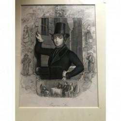 Eugene Sue - Stahlstich, 1850