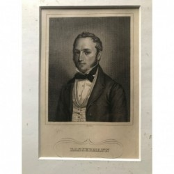Bassermann - Stahlstich, 1860