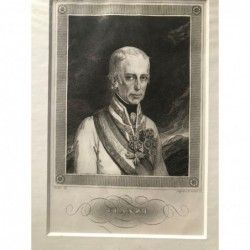 Franz I. - Stahlstich, 1850