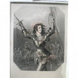 Joan d'Arc - Stahlstich, 1850