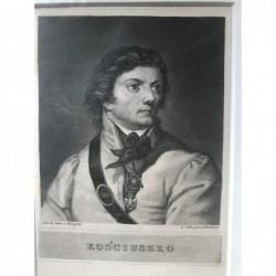 Kosciuszko - Stahlstich, 1850